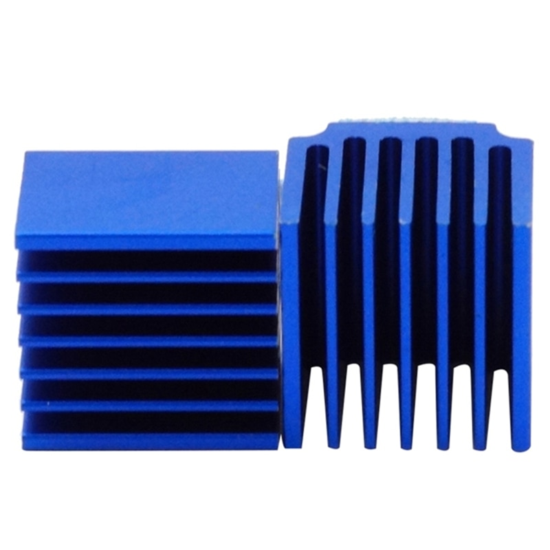 10 Uds 3D partes de impresora azul aluminio controlador paso a paso disipador de calor para TMC2100 LV8729 TMC2208 TMC2130