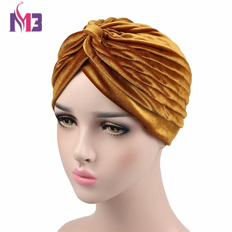 Nuevo Turbante de terciopelo para mujer, Turbante de neón elástico para mujer, Hijab de terciopelo, Turbante, diadema