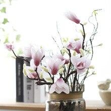 Fleur Magnolia Artificielle en soie   Fausse branche de Fleur, Fleur Artificielle, arrangement de Table, décoration de maison pour mariage, accessoire de fête