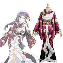 Amour direct école idole projet Tojo Nozomi fleur hauts Kimono Yukata robe uniforme tenue Anime Cosplay Costumes