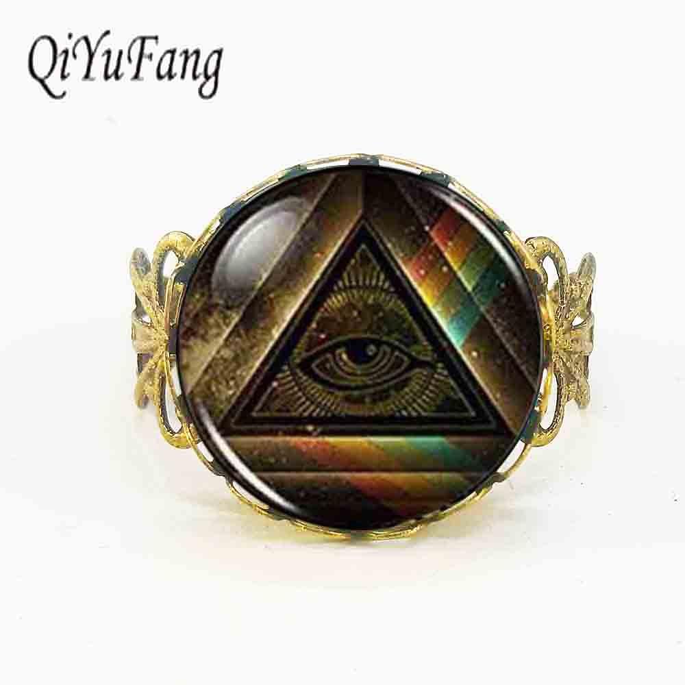 Мужской винтажный ободок QiYuFang, масонский вольный каменщик в стиле стимпанк, с кристаллами