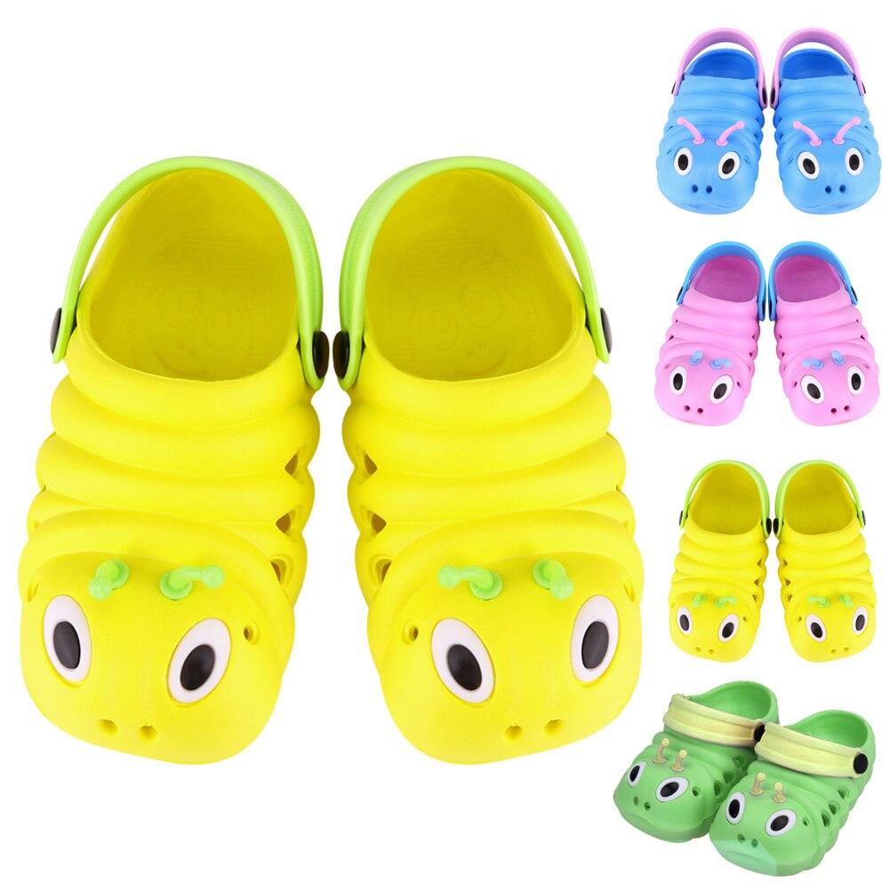 Сандалии для маленьких мальчиков и девочек; Летняя пляжная обувь для малышей; Пластиковые детские сандалии «гусеница»; Обувь для новорожденных; Водонепроницаемые дышащие сандалии