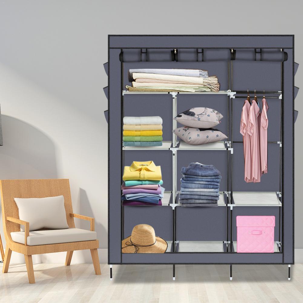 Multifuncional no tejido ropero portátil plegable a prueba de polvo impermeable ropa muebles de gabinete de almacenamiento