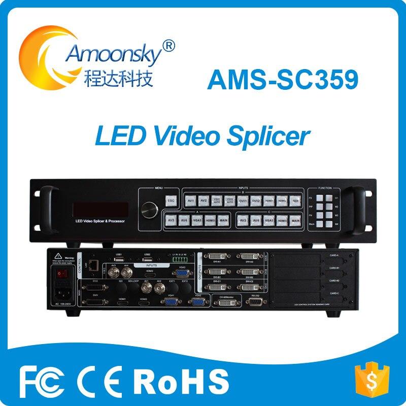 Amoonsky AMS-SC359 3 controle LEVOU Processador De Vídeo diferente levou tela para p6 levou modul para aluguer fase levou tela ao ar livre