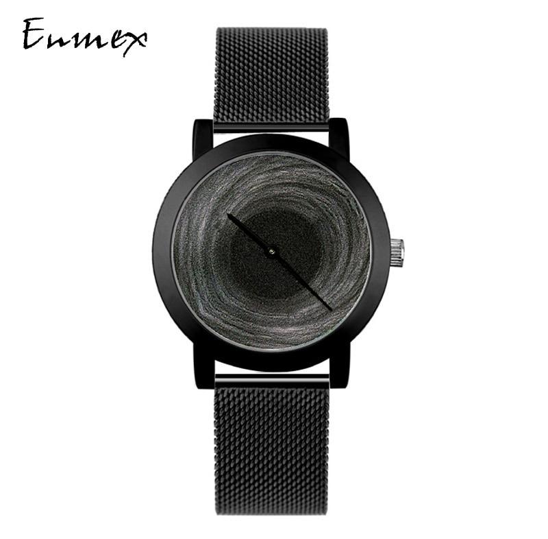 2018  Enmex creative design neutral wristwatch moonscape 3D black hole  simple face nature fashion quartz lady watches enlarge