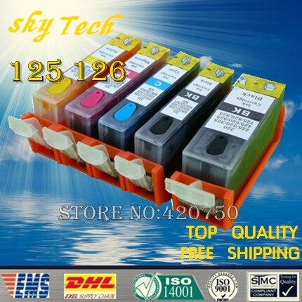 Recarregáveis Cartuchos de Tinta Suit Para PGI125 CLI126 5PK Completo, terno para canon ip4810 ip4910 ix6510 mg5210 mg5310, com o chip ARC