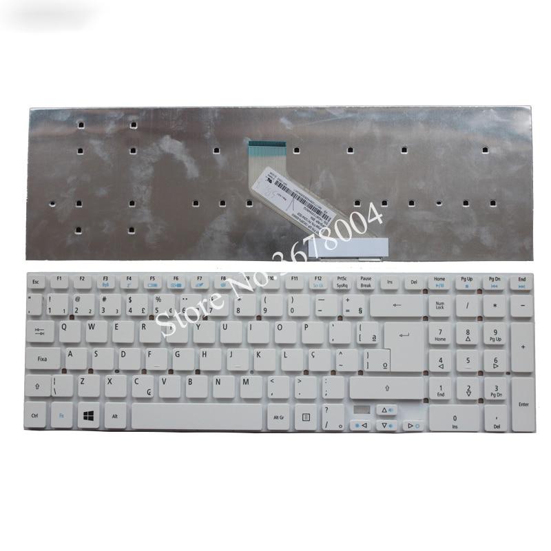 Nuevo BR blanco para Packard Bell easynote P7YS0 P5WS0 TS13SB TS44HR TS44SB TSX66HR TSX62HR TV11CM teclado para ordenador portátil de Brasil