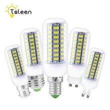 Pas cher lampes LED 5730 220V E14 E27 B22 GU10 G9 56-72 leds lumières maïs Led ampoule noël lustre bougie éclairage pour la maison