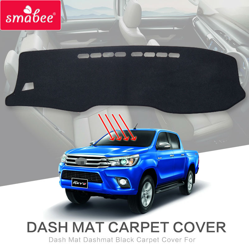 Dash Mat Dashmat Tapijt Cover Voor Toyota Hilux SR5 4X4 Hilux Revo Hi-Rider Handleiding 2015-2018 Accessoires Anti-Slip Dashboard Pad