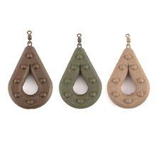 1 pièce plombs de pêche plombs de pêche creux en forme de poire plombs de pêche en mer pivotants poids accessoires dattirail-(couleur aléatoire)