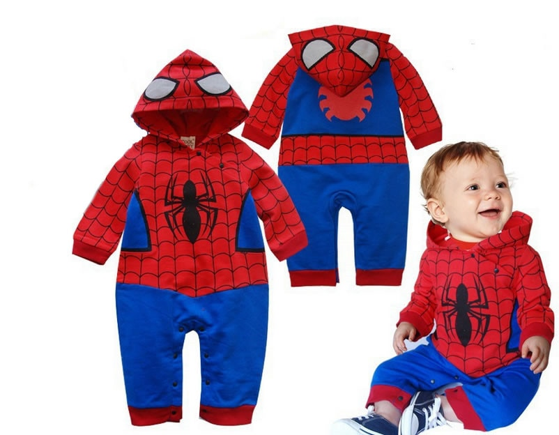 2020 nuevo bebé recién nacido Ropa de bebé niño Spiderman mameluco, pelele y enterizo cuerpo al por mayor trajes Ropa de bebé traje 0-12M