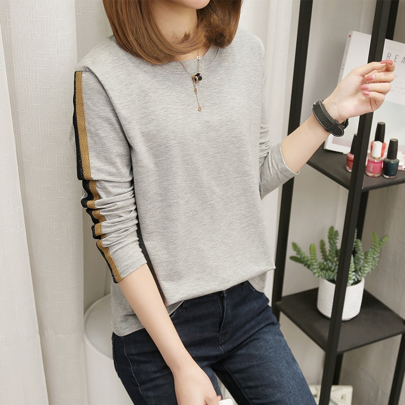 Banerdanni spring New Women's T-shirt Cartoon print Tees Plus Size 5XL Loose Long sleeve V neckTops Casual Camiseta femenina