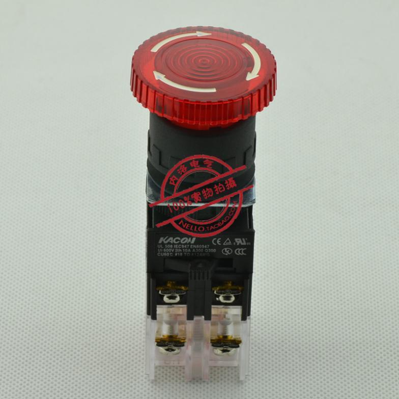 [SA ]Kaikun KACON 22mm beleuchtet notfall stop schalter K22-87R01D4 rotation reduktion LED 24V 1 NC--10PCS/LOT
