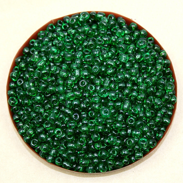 Preço de fábrica 80 g/lote 4mm transparente Verde Semente de Vidro Soltos Spacer Contas para Fazer Jóias