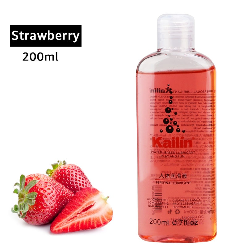 fruit flavor anal grease for sex lubricant lube gel Vagina lubrication 200ml taste water based oil lubricante sexual