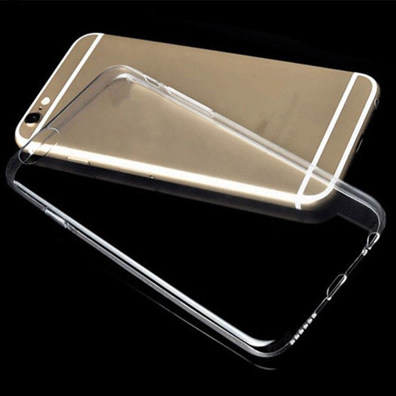 ¡Venta al por mayor! carcasa 100 Uds para iphone 7 6X8 5S SE funda transparente de silicona suave para iphone 6 7 8 Plus Coque Fundas Etui