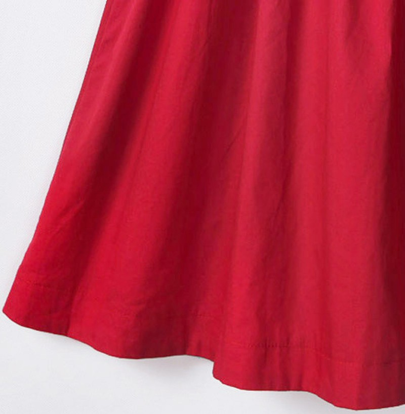 100% bawełna nowy 2017 jesień lato kobiety dress krótki rękaw casual sukienki plus size vestidos wc0380 19