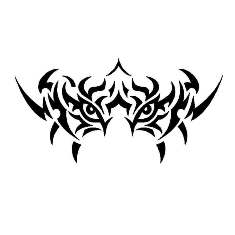 Ojos de tigre Etiqueta de coche Tribal tatuaje Ventana de camión espejo de ordenador portátil adhesivo gráfico motocicleta accesorios exteriores JDM