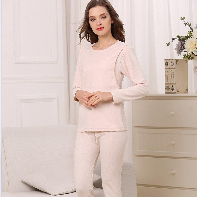 Emotion Moms Breastfeeding Pajama Cotton Long Sleeve Maternity Pajamas Set Nightgrown Sleepwear Pregnancy Pyjamas Autumn enlarge