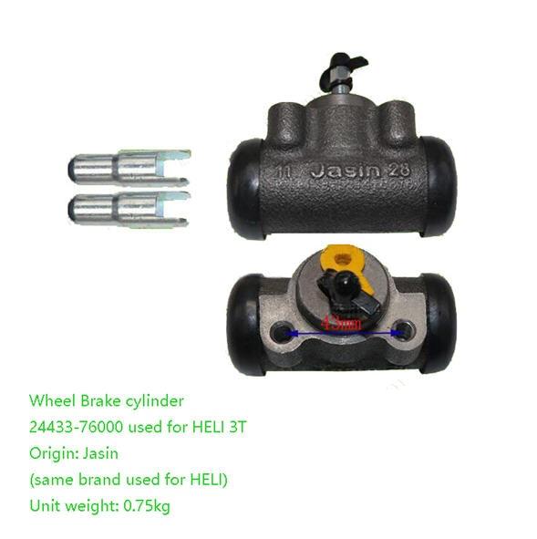 Cilindro de freno de rueda 24433-76000 para carretilla elevadora HELI de 3 toneladas, piezas originales, completamente nuevo, garantía de calidad.
