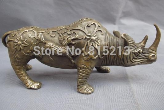 Statue de feng shui en Bronze et cuivre, Statue de Kylin Kylin Kirin rhinocéros, bi0011828