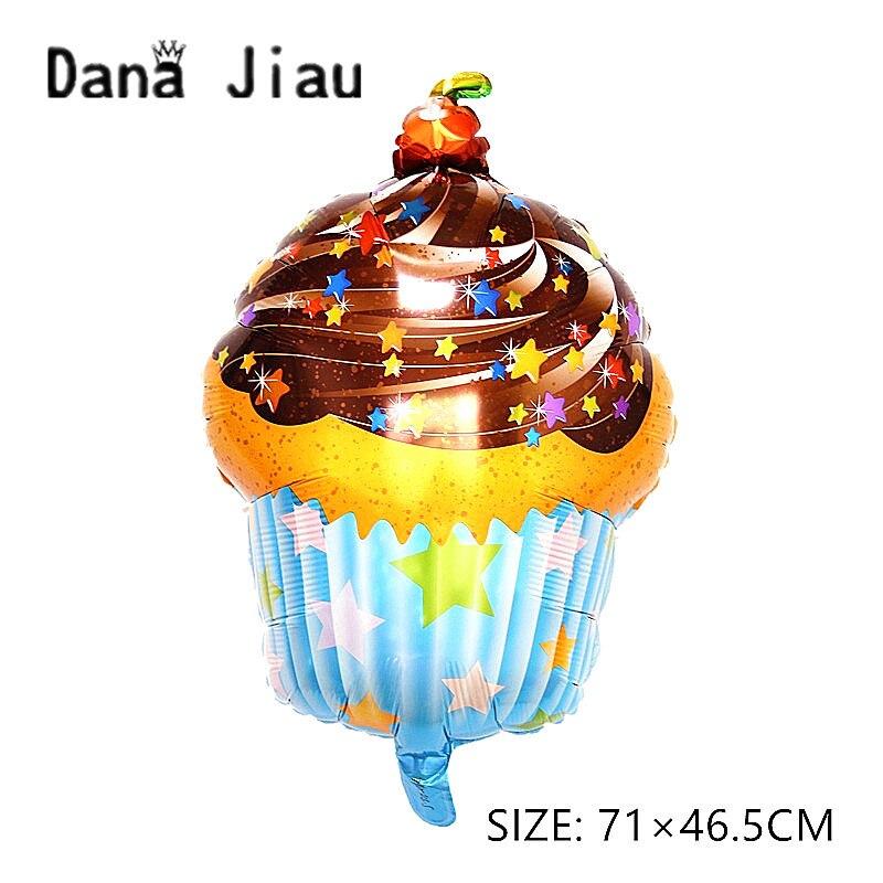 Danajiau Magdalena azul globo de comida Arco Iris helado papel de aluminio Bola de helio cumpleaños dulce chocolate boda decoración baloon