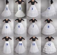 Hot Sell Many Styles  Bridal Wedding Petticoat Hoop Crinoline Prom Underskirt Fancy Skirt Slip