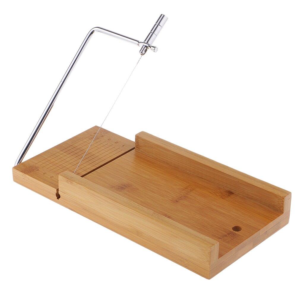 Cortador de jabón de acero inoxidable de madera herramienta de corte de pastel de Chocolate con cortador de alambre