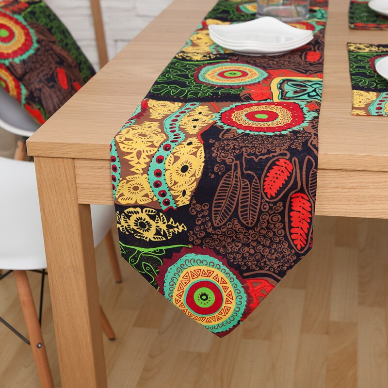 El Sudeste asiático moderno de algodón de linenTable corredores de tela con borlas comedor decoración para fiesta de boda casa Oficina 4 col