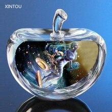 XINTOU-Figurines de pommes en cristal   12 Constellations, Figurines miniatures dange, ornements, accessoires de décoration pour la maison