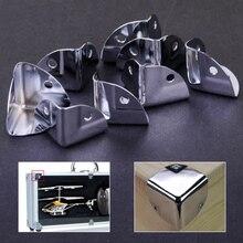 8 pièces en métal coin support Angle orthèse protecteurs pour coffre en bois coffre Flightcase