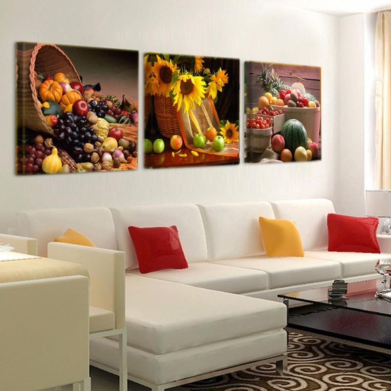 Canvas Painting Restaurant Fruit Grape Pumpkin Wall Art Modern Modular Picture For Kitchen Decoration Poster T464