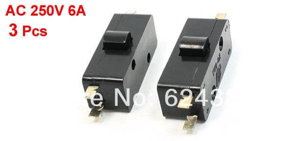 3 uds AC 250V 6A 4 Terminal de Pin cereza Arcade botón Micro interruptor-interruptor SPDT 1 NC + 1 NO KW2-0Z