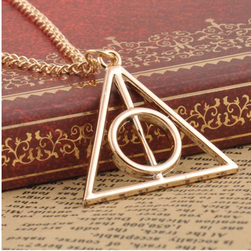 Pendant Necklaces Men Women Vintage Triangle Sweater Chain Necklace Metal pendant triangle necklace  2019 Jewelry Bijoux