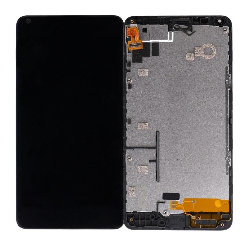 10 قطعة/الوحدة لنوكيا Lumia 640 شاشة الكريستال السائل الشاشة مع اللمس + الإطار لنوكيا 640 محول الأرقام بانتيلا + الإطار شحن مجاني DHL EMS