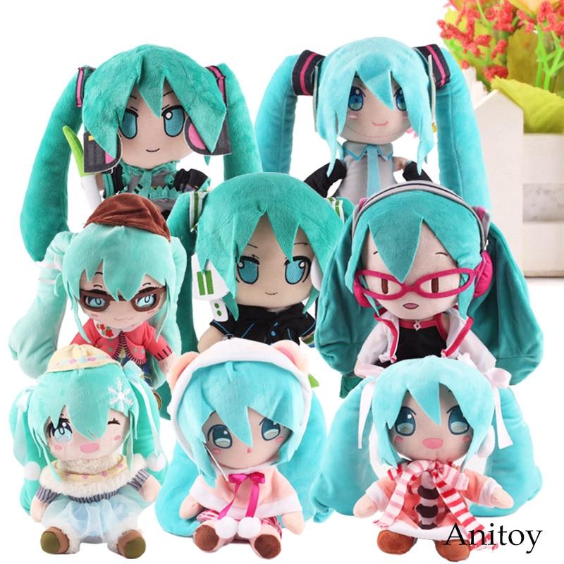 Anime Plush Toy Fabric Plush Vocaloid Hatsune Miku Doll Cute Stuffed Toys for Children 8 Styles 23-33cm