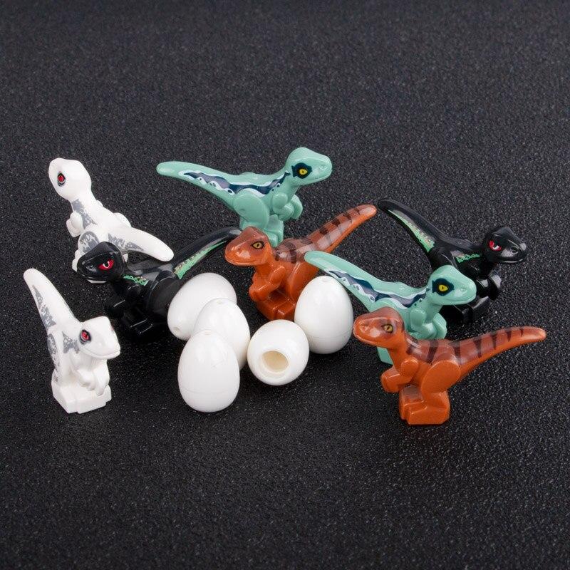 Jurassic World Park Dinosaur Building Blocks Animal Model Toy for Children Easter Egg City Action Figure Accessory Food Blocks