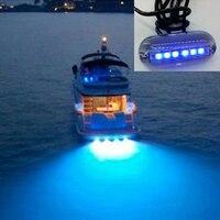 Underwater lights night landscape lighting for fishing boats 6 LED waterproof 12V lighting tools ED plastic underwater light