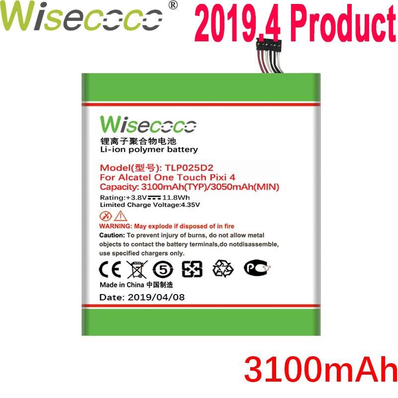 Wisecoco tlp025dc tlp025d2 bateria para alcatel pixi 4 6.0 ot 9001a 9001x 9001d 8050d OT-8050 telefone + número de rastreamento