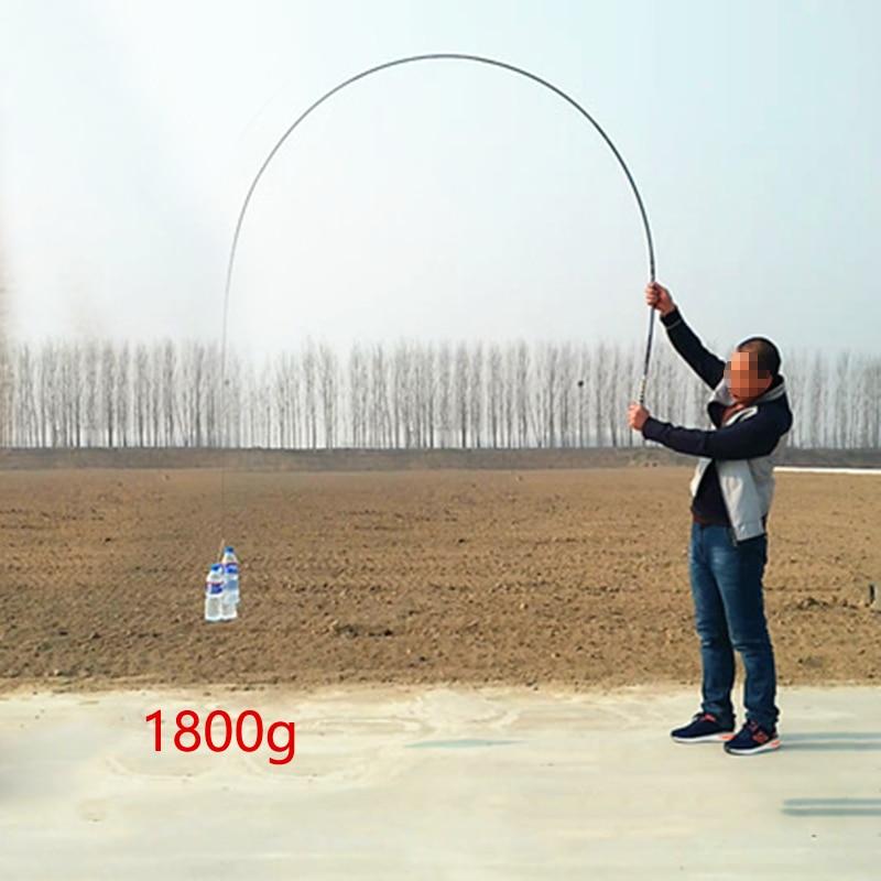 Yernea Carbon Fiber Fishing Rods 2.7m/3.6m/4.5m/5.4m/6.3m/7.2m Telescopic Fishing Rod Hand Pole for Carp Fishing Spinning Rod enlarge