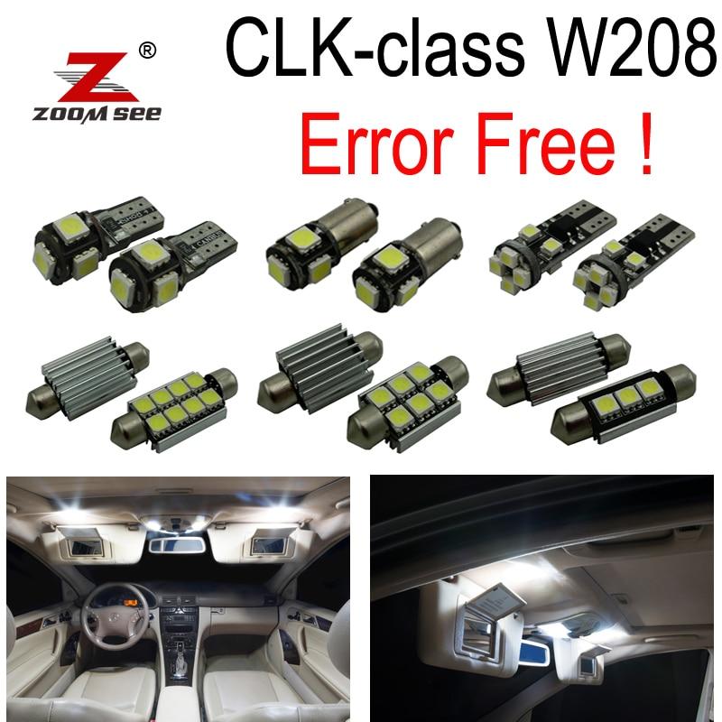 Kit de luz Domo Interior de bombilla LED sin Error 16 pc para Mercedes-Benz CLK clase W208 CLK320 CLK430 CLK55 AMG (98-02)