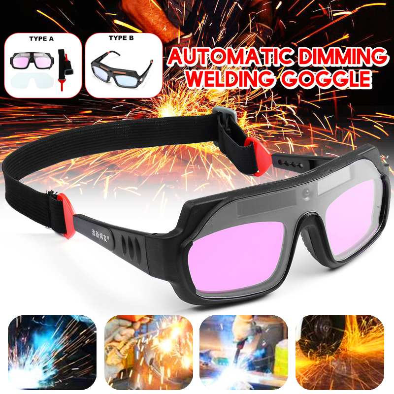 Двухтипная прочная Солнечная Автоматическая Затемняющая Сварочная маска шлем очки для сварщиков Arc PC очки для защиты от сварки