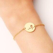 Bracelet en acier inoxydable DOTIFI pour femme couleur or et argent oiseau Pulseira Feminina bijoux de fiançailles amoureux