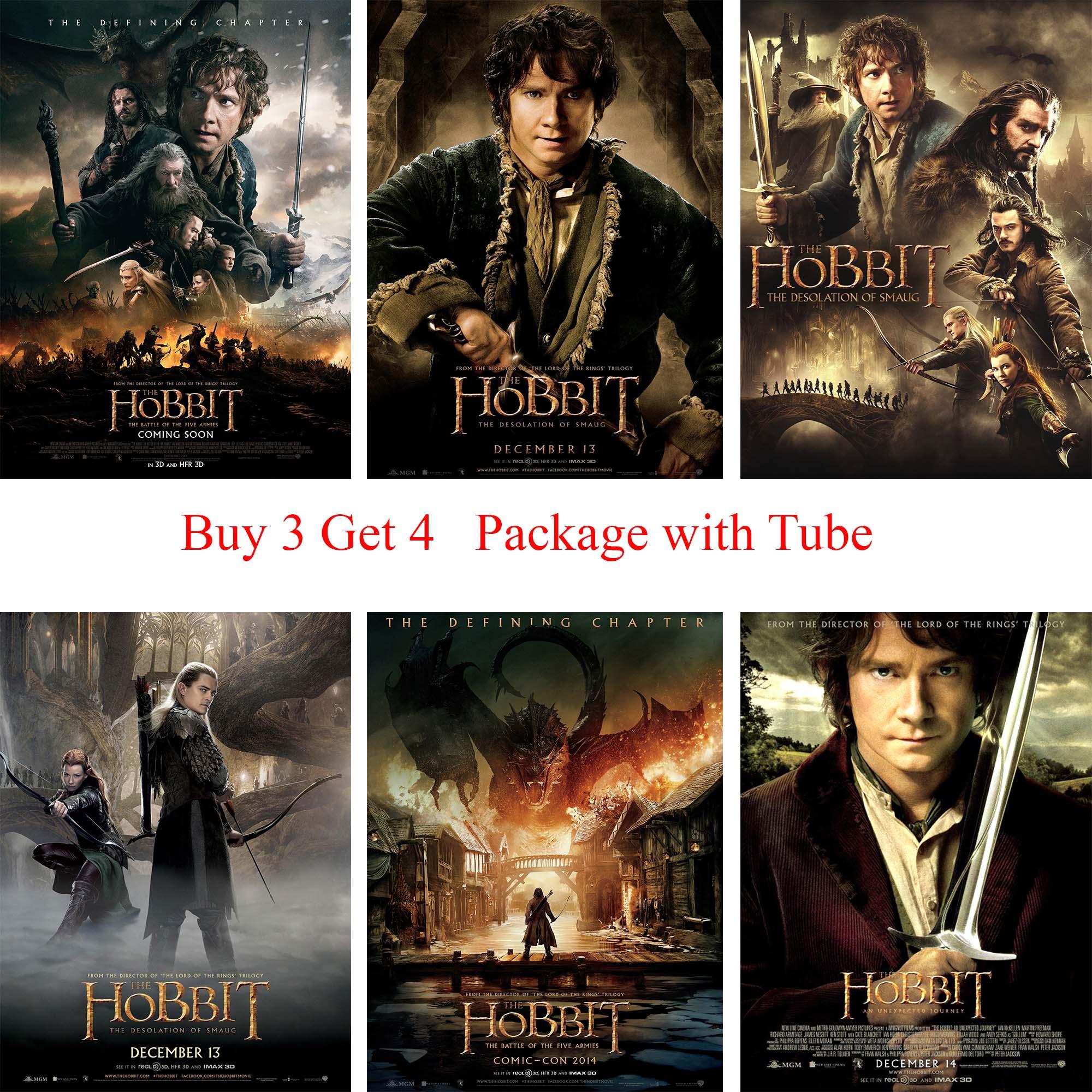 Hobbit Posters Wit Gecoat Papier Prints Muurstickers voor Slaapkamer Livingroom Home Art Merk