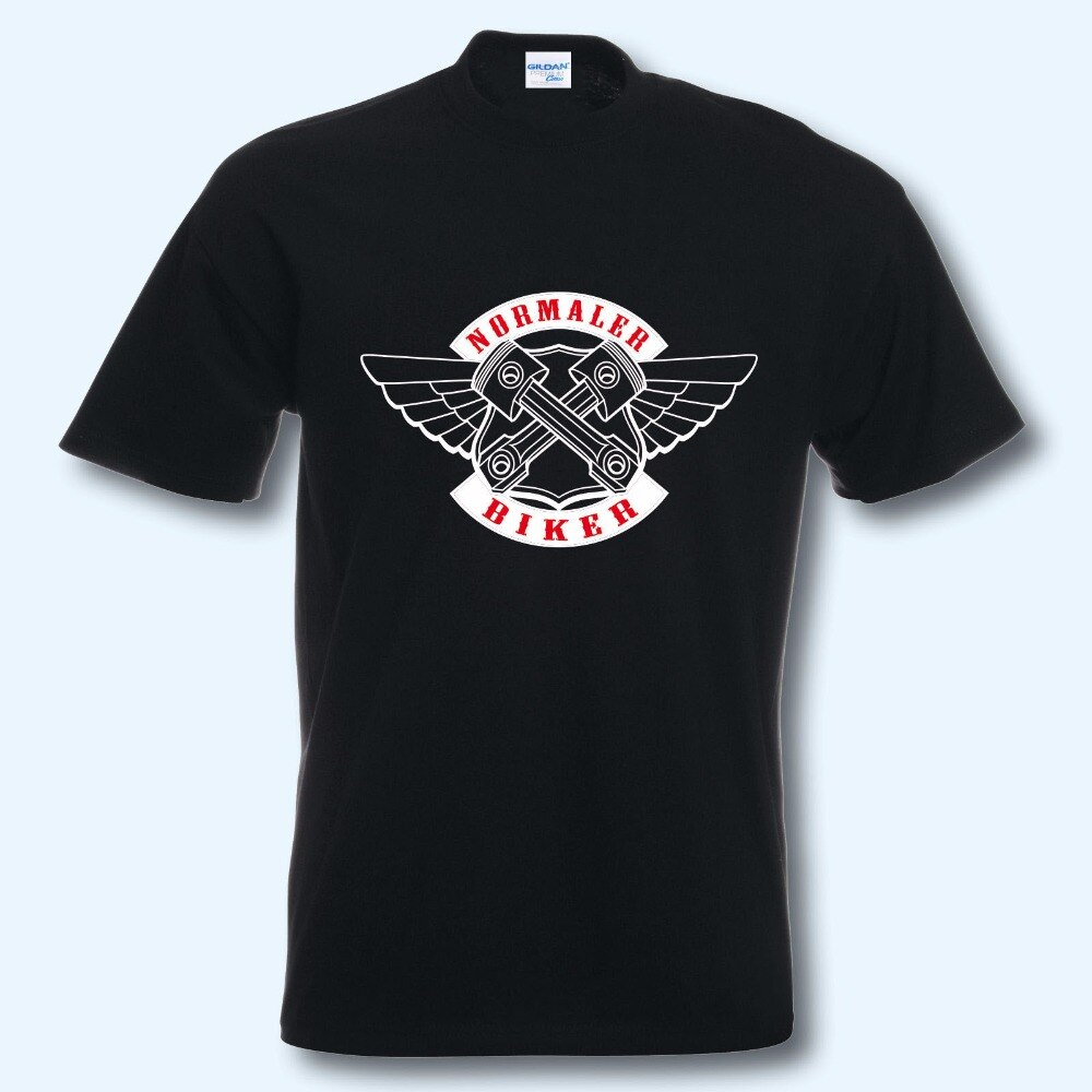High-quality personality O-neck cap T-shirt summer T-shirt, fun shirt, motorcycle, normal riding a biker Tee shirt