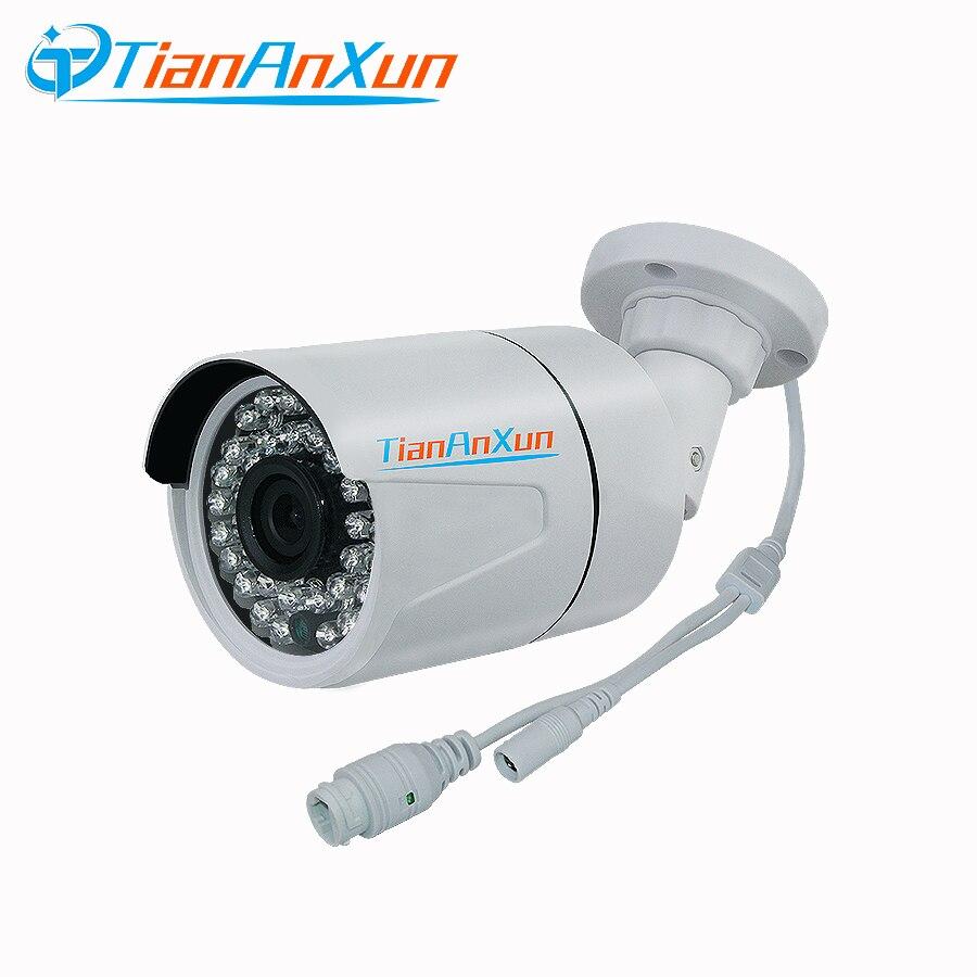 Tiananxun seguridad Cctv cámara Ip Poe cámara de red exterior de vigilancia 720P 960P 1080P Ip cámara de visión nocturna Onvif P2P vmeyesuper de
