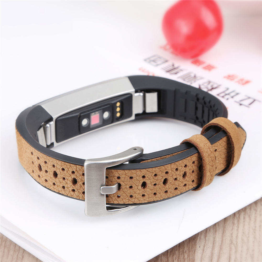 fashion Genuine TPU Leather Band Replacement Strap Bracelet for Fitbit Alta /Alta HR Tracker High Quality bracelet strap Black new high quality genuine stainless steel watch bracelet band strap for fitbit alta hr for fitbit alta watch wrist strap bands