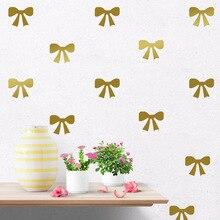 Autocollant mural Direct exclusif en PVC   Joli papier peint avec nœud papillon, de style dessin animé, décor pour chambre denfant