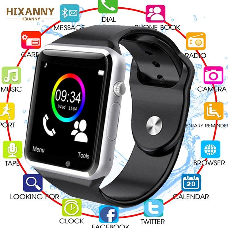 Reloj inteligente para mujeres, niños, A1, reloj inteligente con Bluetooth con cámara pasómetro, compatible con tarjeta SIM TF para teléfono Android, reloj inteligente