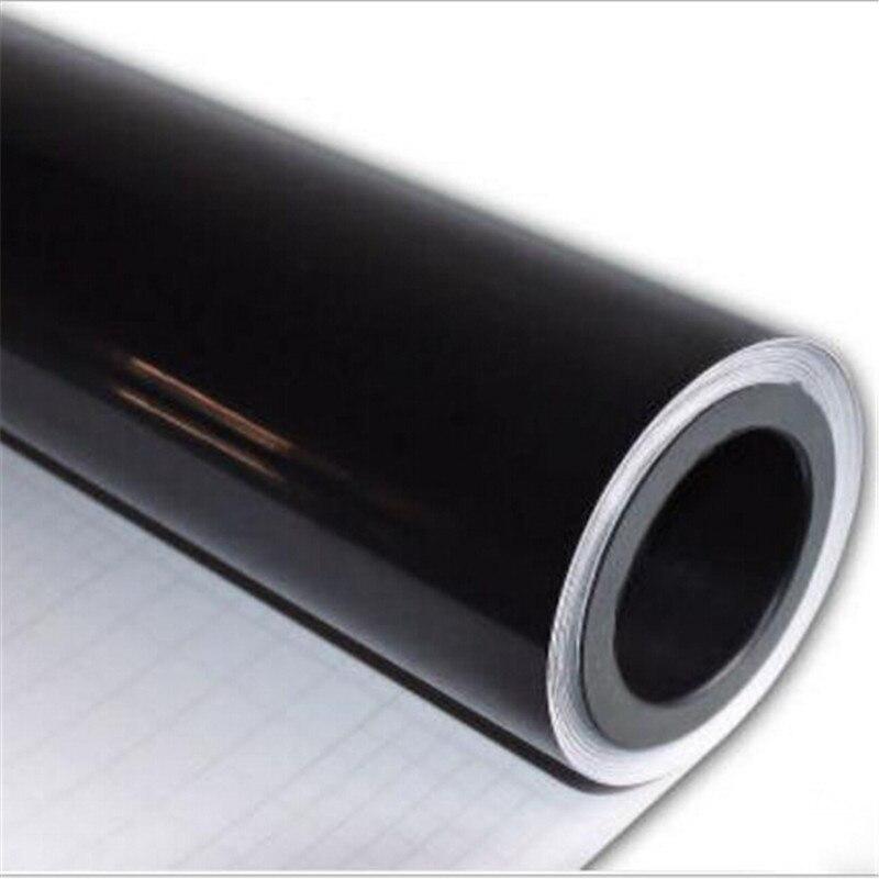 35cm x 150cm de la etiqueta de adhesivo de vinilo superbrillante negro piano película con burbuja de aire liberación de techo de coche Hood de la etiqueta engomada